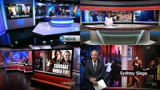 Ten Eyewitness, Seven, Nine & Abc News Melbourne/victoria - Sydney Cafe Siege: Openers [16.12.14]