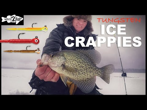 Ice Fishing Crappie With Tungsten Jigs And Plastics