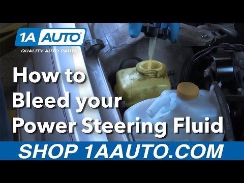 How to Bleed your Power Steering Fluid