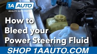 How to Bleed your Power Steering Fluid