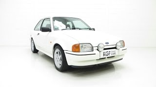 An Incredible Ford Escort RS Turbo Series 2 with Just 39,022 Miles - SOLD!