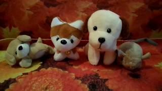 Обзор на маленькие мягкие игрушку собачки и мышка