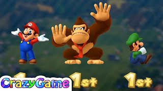 Mario Party 10 Coin Challenge - Mario vs Luigi vs Donkey Kong Co-op 3 Player Gameplay