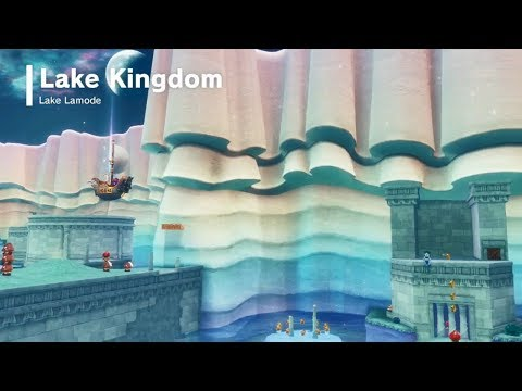 Super Mario Odyssey | Lake Kingdom - All Power Moons & Fish Scales