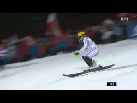 Marcel Hirscher wins in Schladming 1st run