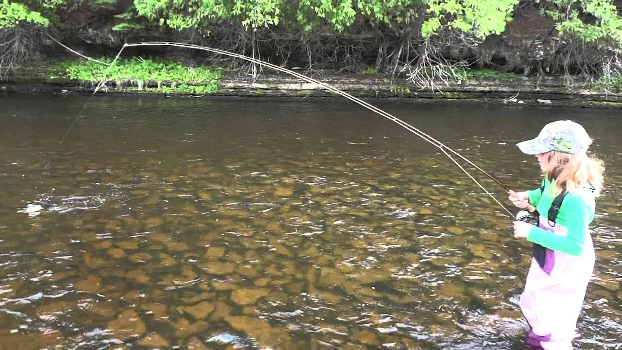 Upper peninsula fly fishing brown trout 2012 youtube for Fly fishing michigan