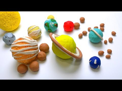 DIY How to make Play Doh Solar System Planets & its Moons Ho