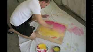 time lapse acrylic painting aakala