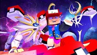 Minecraft: SOLGALEO VS LUNALA ! - CORRIDA DE LUCKY BLOCK PIXELMON
