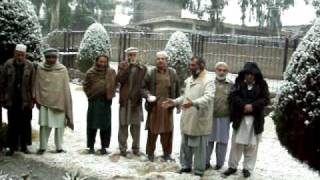 TRSS Mansehra Akbar Ali Farm Manager enjoying snowfall in his Monarchy with Mentors