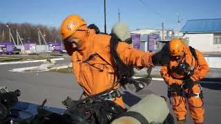 В Хабаровске начались обучения газоспасателей. Костюм Стерелец КИО