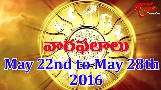 Vaara Phalalu | May 22nd to May 28th 2016 | Weekly Predictions 2016 May 22nd to May 28th