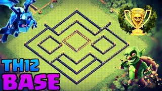 BEST TH12 FARMING BASE LAYOUT | NEW TH12 UPDATE | COC