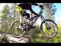 Enduro / mtb thrill on two-wheeled rocking chair (on the Rocks of Tuohijärvi, Lahti).
