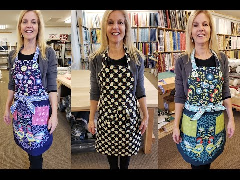 All About Aprons!!! Easy At Home Sewing Project From Jordan Fabrics