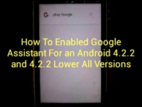 Google Assistant For Android JELLYBEAN and 4 2 2 Lowe All Versions Accepted Hindi & English