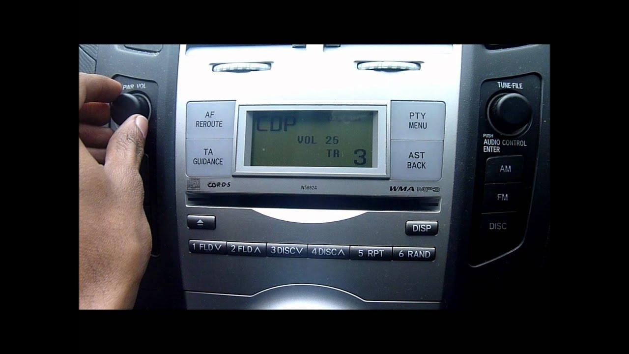 2007 TOYOTA YARIS CD PLAYER/STEREO - YouTube