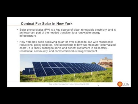 NYSEIA Webinar Solar Land Leasing and Municipal Best Practices