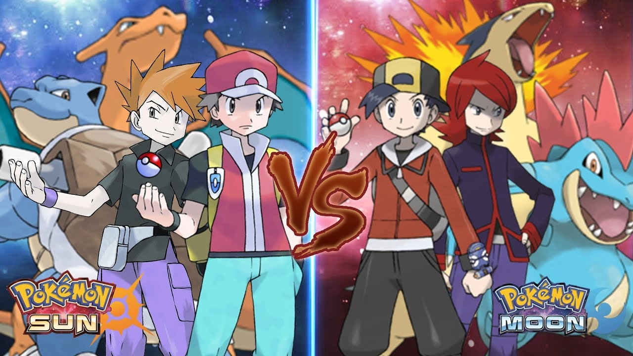 red vs blue sun and moon - photo #7
