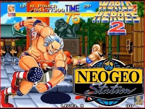 World Heroes 2 Lev 8 Muscle Power(Hulk Hogan) No Lose Playthrough
