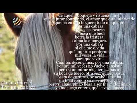 Carlos Gardel - Por una cabeza (Letra-Lyrics)