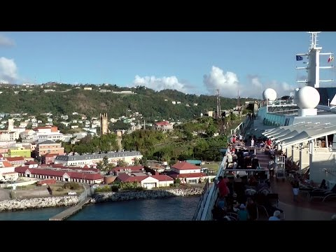 Caribbean Sea '15 - Grenada - St. Georges farewell with cruise vessel Celebrity Eclipse