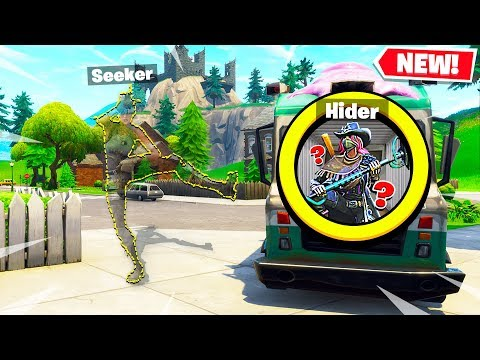FORTNITE *NEW* INVISIBLE HIDE and SEEK! (Custom Playground Battle Royale)