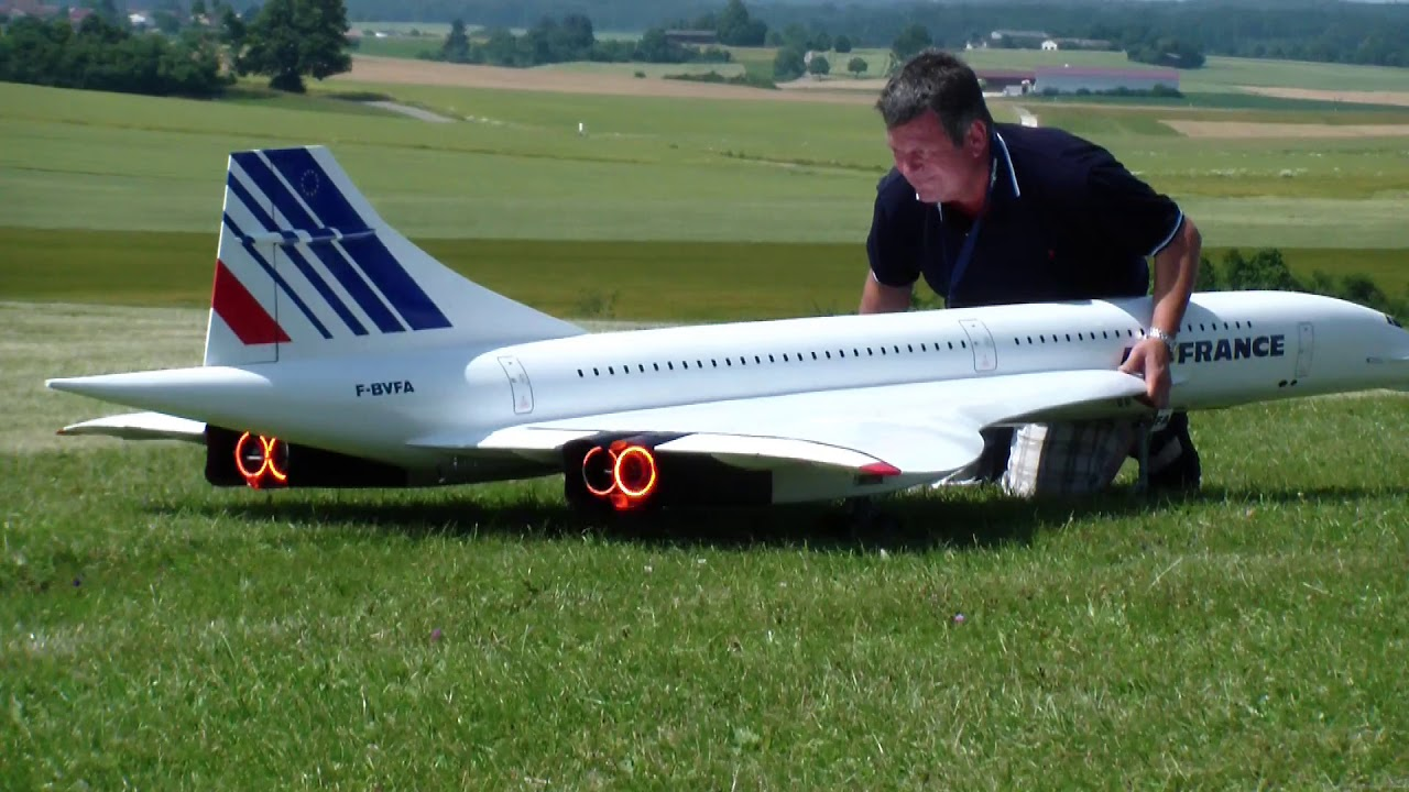Air France and British Airways Concorde RC turbine Airplane models