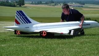 Air France and British Airways Concorde RC turbine Airplane models