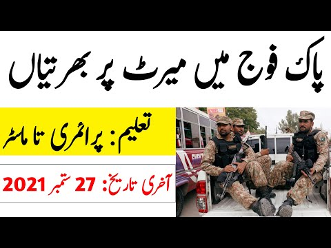 Pak Army Civilian Jobs 2021 || Latest Jobs In Pakistan Army 2021