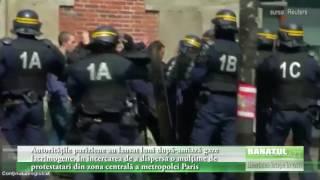 Autorităţile pariziene au lansat gaze  lacrimogene, în încercarea de a dispersa o