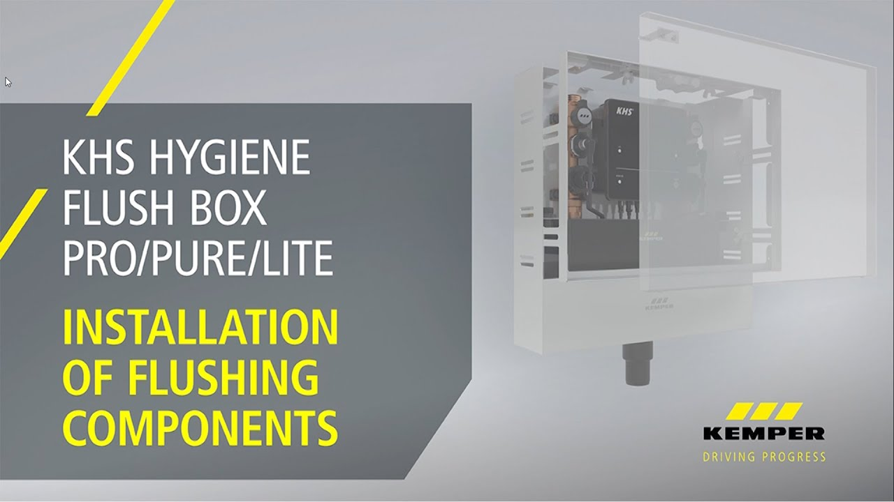 Youtube Video: Installation of Flushing Components KHS Hygiene Flush Box PRO PURE LITE