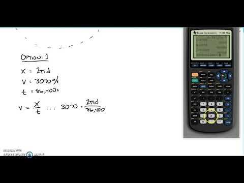 Physics - In-Class Problem - Geostationary Orbit