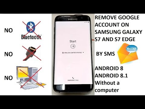(S7 Android 8) REMOVE GOOGLE ACCOUNT SAMSUNG GALAXY S7 - S7 EDGE - ANDROID  8 - Without a computer
