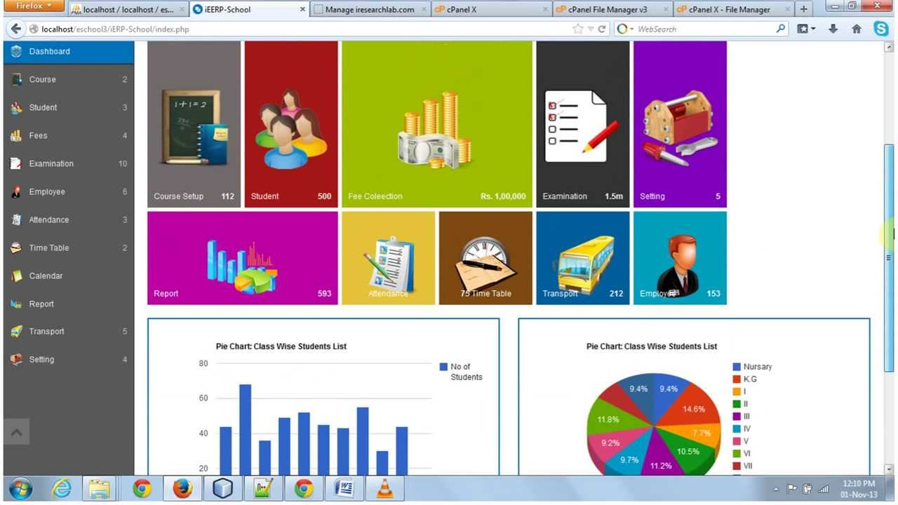 School Management System Online Demo Irl Technologies