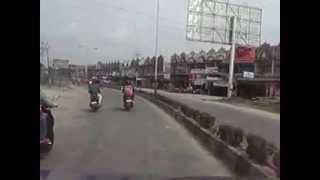 suasana jalanan kota sintang dari seroja ke km 4 sungai durian 2012