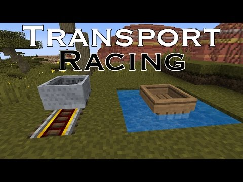 Minecraft Challenge - TRANSPORT RACING
