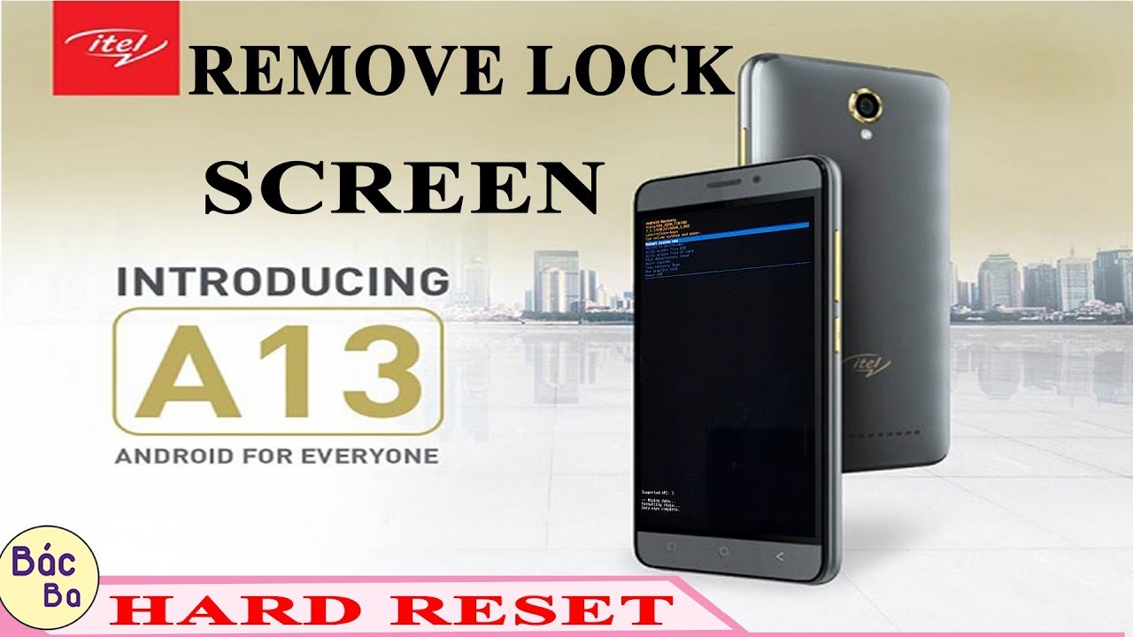 Hard Reset Itel A13 Remove Pattern Pin Password