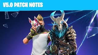 Notes de patch de la saison 5 Fortnite Fortnite