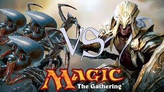 MtG Modern Gameplay - U/G Infect VS Metalcraft Combo