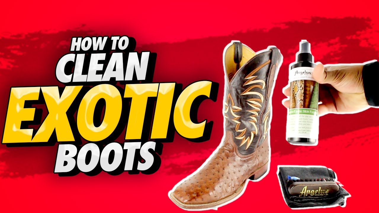 9e9be637d6b How To Clean Exotic Cowboy Boots