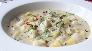 Bay Scallop Chowder Recipe - Creamy Scallop and Bacon Soup