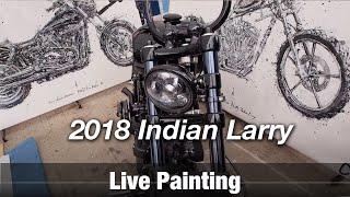 Motorcycle Art Part 79 / 2018 Indian Larry Block Party