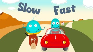 *FULL SONG FAST SLOW* | This & That | fun for toddlers learning opposites | learn for kids