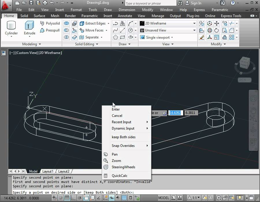 Autocad 2012 video tutorial basic training how to use Simple cad software