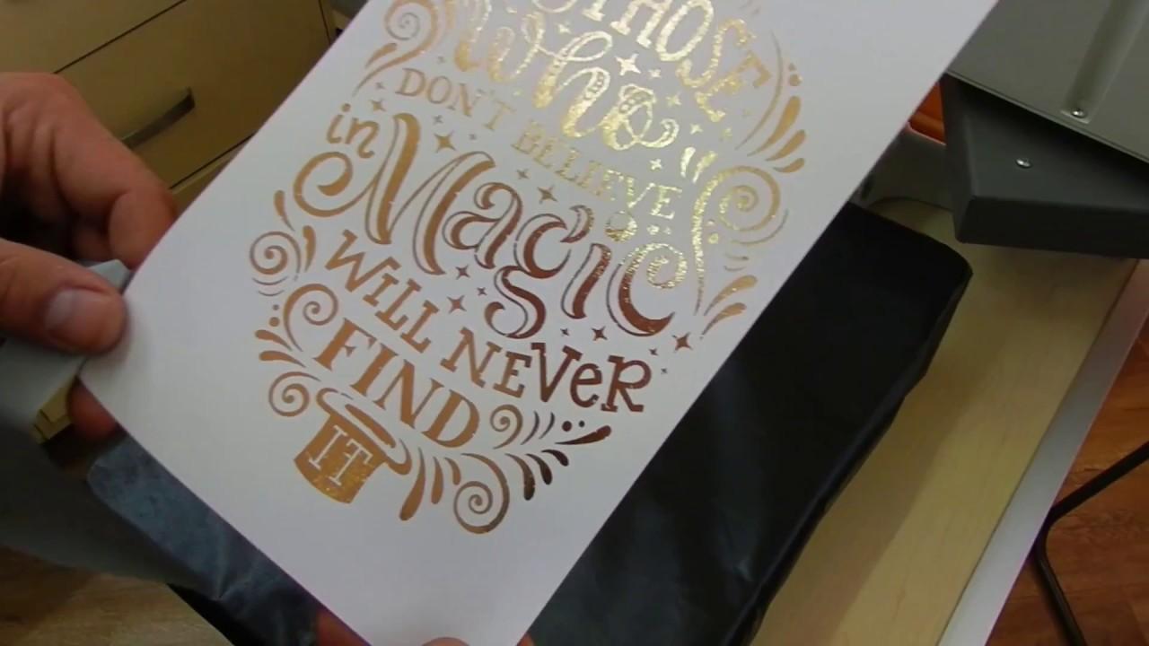 Aplicaci n de foil sobre papel youtube - Sobre de navidad para imprimir ...