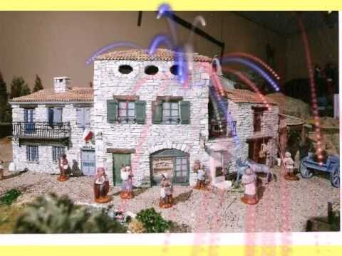 Village proven al en pierre et sa cr che de no l youtube - Fabrication de maison pour creche de noel ...