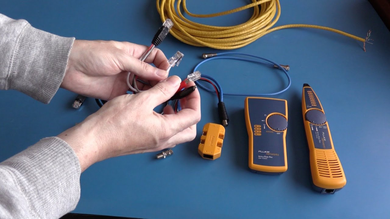 BSL014 Fluke Networks IntelliTone Pro 200 Tone & probe Kit - YouTube