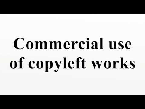 Commercial use of copyleft works