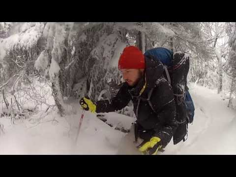 Winter Camping Solo on Vermont's Long Trail hiking with a dog